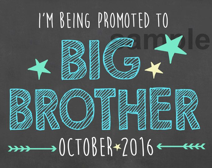 Promoted to Big Brother Chalkboard Sign /I'm Being Promoted Pregnancy Sign/ Going to Be Big Brother Chalkboard Sign / Big Brother Promotion