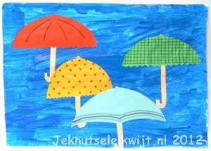 Een paraplu knippen en plakken