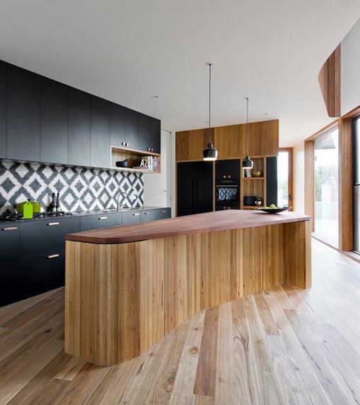 Frentes de cocina con azulejos decorativos kitchen black and white tiles