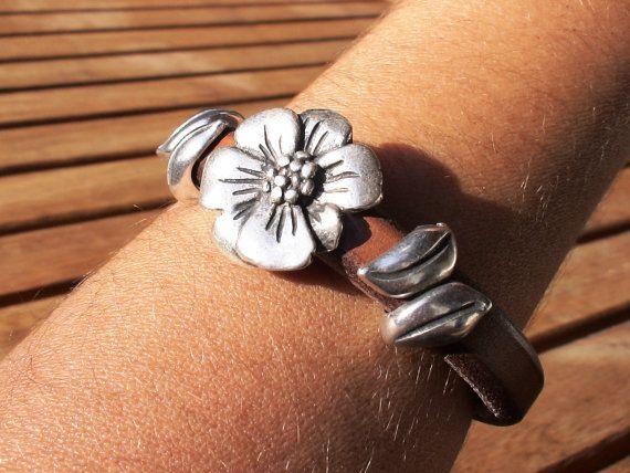 women old camel brown 10mm licorice  leather  bracelet by kekugi, $26.00