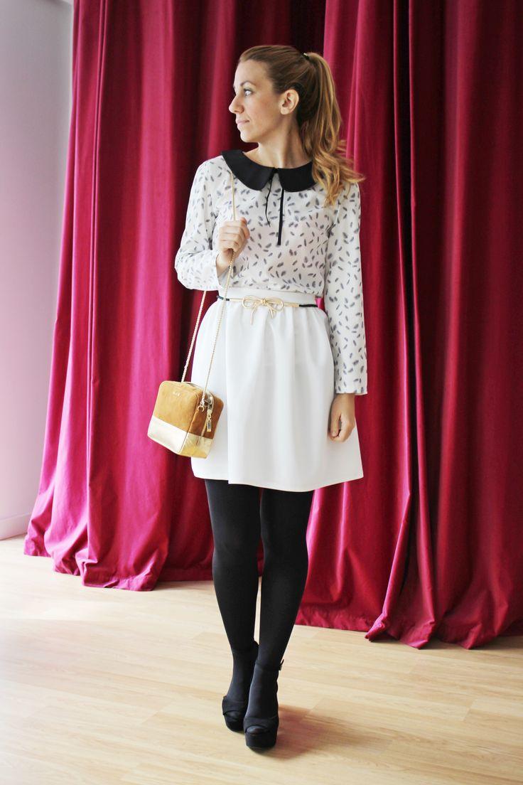 El blanco también es para el invierno! Tus prendas más especiales en #colettemoda  Blusa > http://www.colettemoda.com/producto/blusa-plumas/