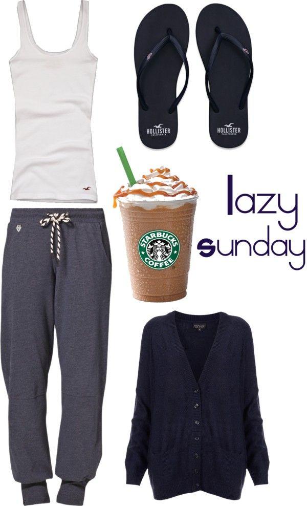 """""""lazy Sunday"""" by rayban-converse ❤ liked on Polyvore,$11.99 #wholesaledesignerhub.com"""