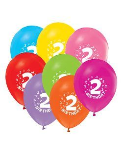 Doğum günü parti süslemeleri için 2 Yaş Doğum Günü Renkli Balonları ve bütün parti malzemelerini online olarak uygun fiyatlar ile satın…
