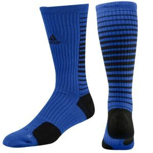 adidas Team Speed Vertical Crew Sock - Men's - Basketball - Accessories - Cobalt Blue/Black