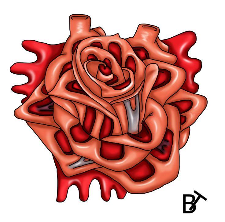 34 Best Heart Rose Tattoo Images On Pinterest