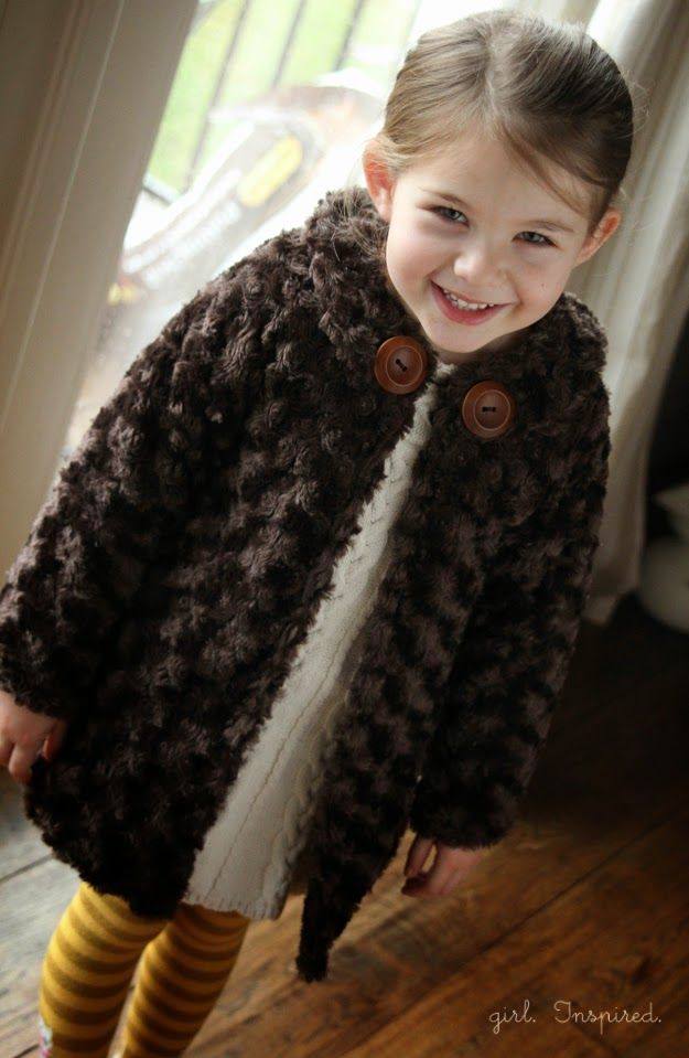 I choose to sew: Free Pattern: coat girl size 4-5 Years