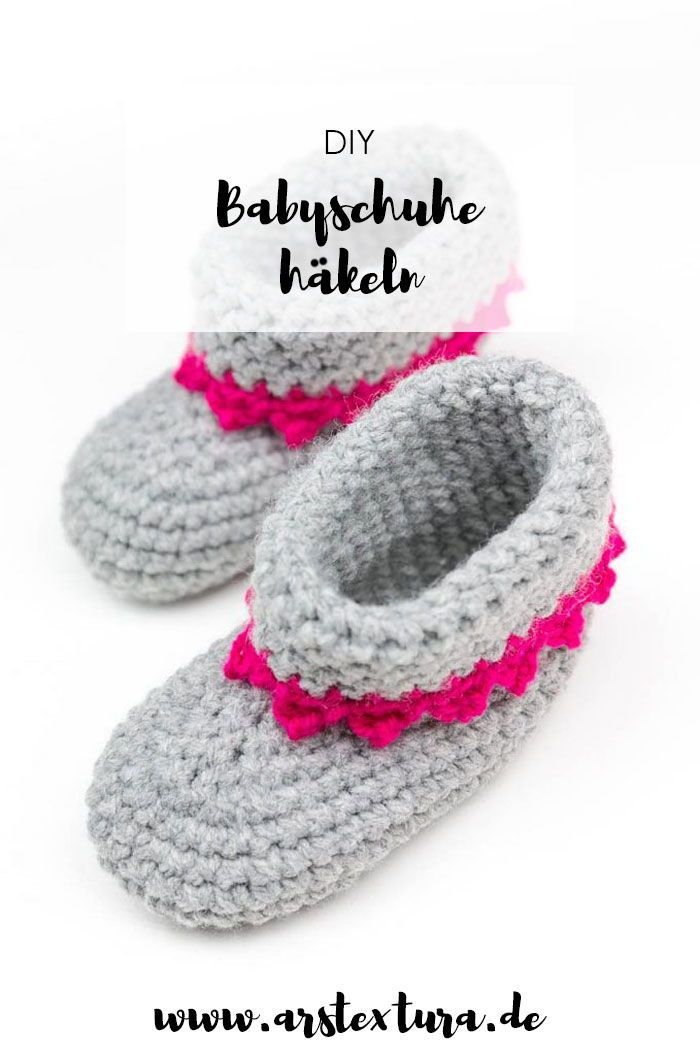 Babyschuhe Mit Anleitung Diy Häkeln Pinterest Craft