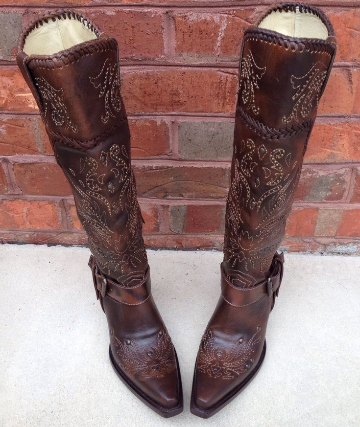 Corral Brown Whip Stitch Stud Boot G1116