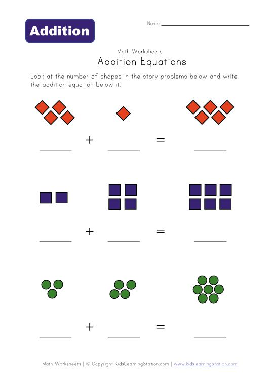 Simple addition worksheets for preschool