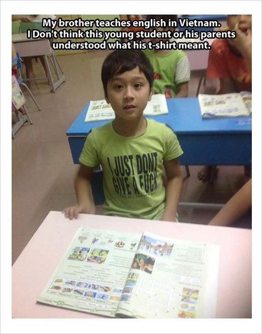 teaching English in Vietnam funny