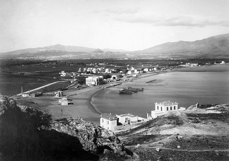 Νέο Φάληρο, περ. 1890, πανοραμική άποψη παραλίας.