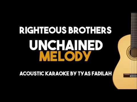 9 Unchained Melody Righteous Brothers Acoustic Guitar Karaoke Version Youtube Karaoke Unchained Melody Melody
