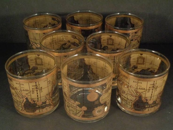 17 best crazy for culver images on pinterest barware nautical barware collection cera old world map rocks glasses gumiabroncs Image collections