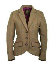 NEW Ladies / Womens Toggi Eltham Tweed Tailored Blazer Smart 100% Wool Jacket