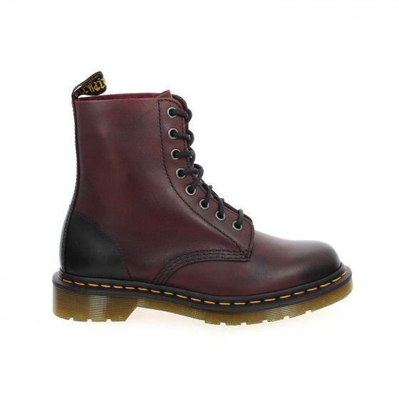 Bottines femme bordeaux DOC MARTENS PASCAL - Bessec-chaussures.com