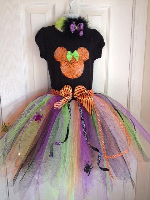 Minnie Spider halloween costume tutu set 1 2 3 4 5 6 7 8 yrs. , via Etsy.