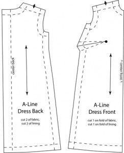 Barbie una línea de vestido