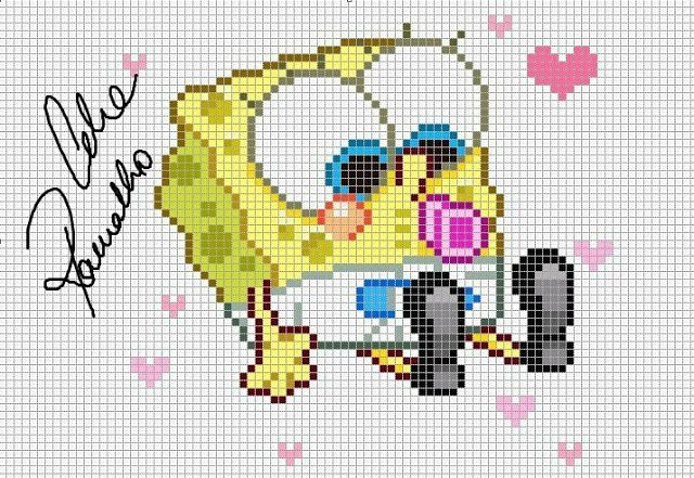 74 best Bob Esponja SpongeBob SquarePants Ponto |Cruz Cross Stitch ...