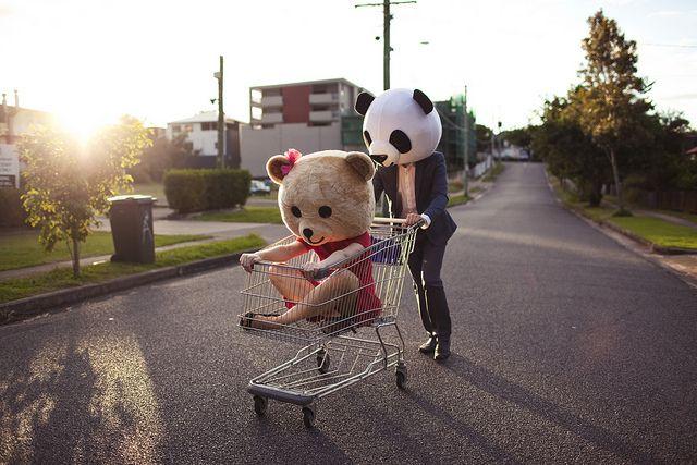 Bear masks having fun! photo by POPPY SMILES