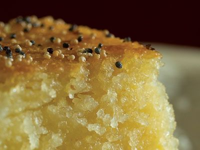 Sanwin makin, Burmese semolina cake with raisins, walnuts and poppy seeds.