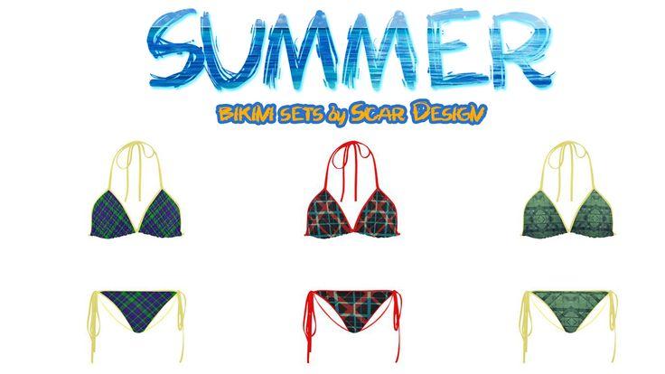 Modern Bikini Sets I by Scar Design #swimwear #bikini #swimsuit #swim #bikinisuimsuit #summer #summer2017 #beach #beachwear #style #summerstyle #modernbikini #giftsforher #artsadd #scardesign #sea #vacation #travel