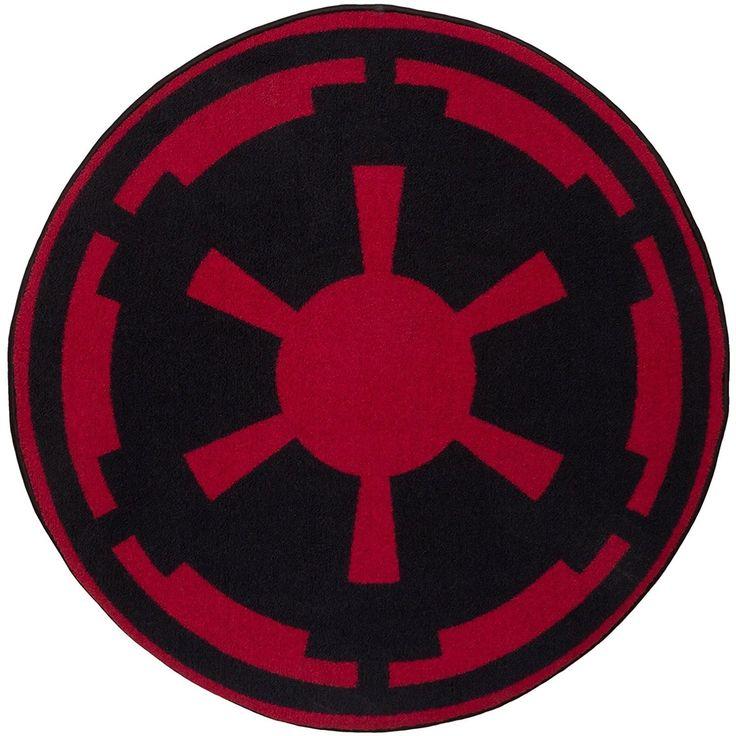 Star Wars Imperial Logo Round Rug, Black