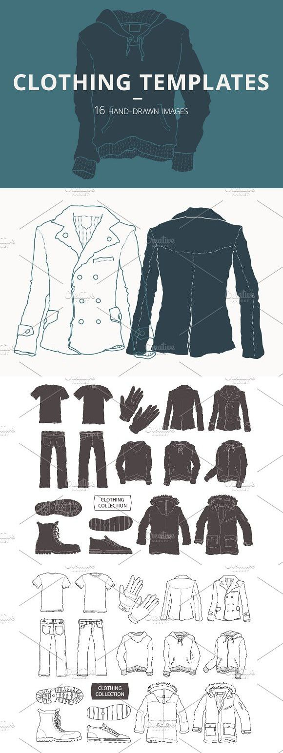 16 Clothing Templates #clothes #clohting