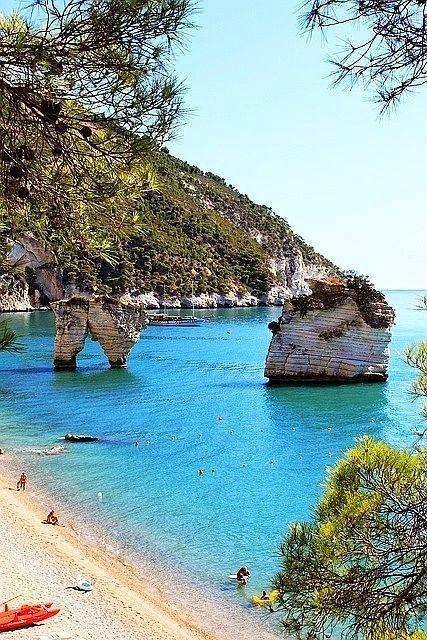 Mare turchese, Puglia, Italia (Baia delle Zagare)