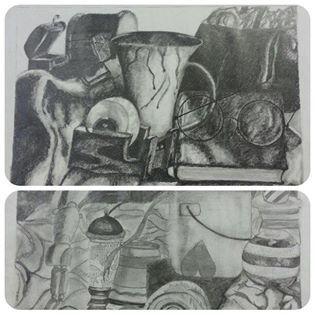 Wesvalia se kunsleerders is in `n klas van hul eie. Leerders word blootgestel aan verskeie mediums soos akrielverf, houtskool, potlood, poeierpastelle en waterverf. Ons kunsleerders spog met kunswerke van hoogstaande gehalte.Hier is ons graad 10 leerders se stillewe loodpotlood sketse.