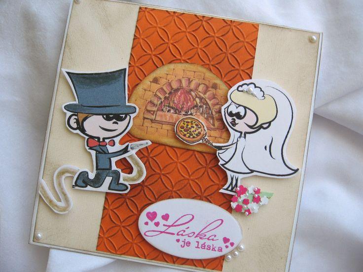 svatba - požárník a pizzařka :)