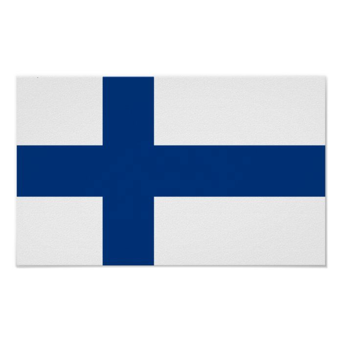 Flag Of Finland Poster Zazzle Com Flags Of The World Finland Custom Posters