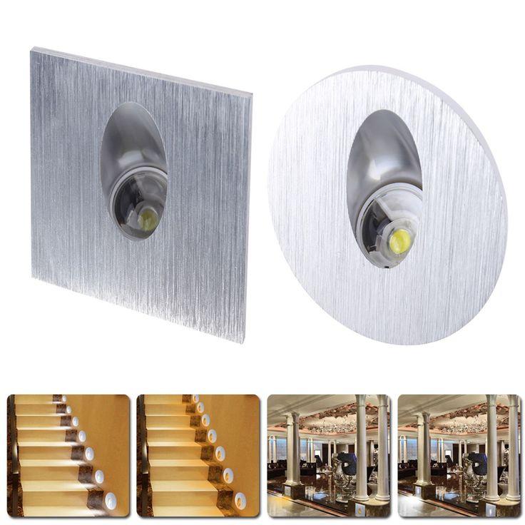 Из светодиодов бра лампы 85 - 265 В 1 Вт встраиваемые из светодиодов лестницы бра в шаге / прохода лампы встраиваемые бетонные стены освещение