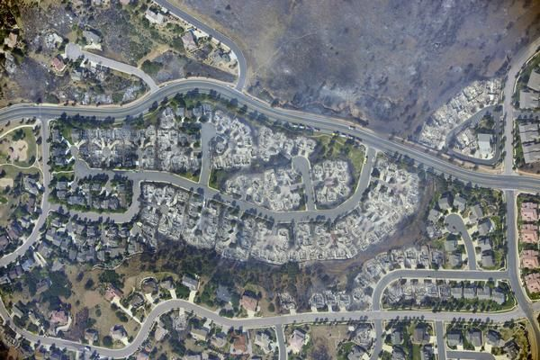 Colorado wildfire: Aerial photo shows about 300 homes destroyed in Waldo Canyon Fire - The Denver Post