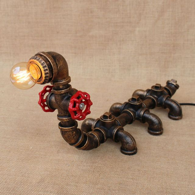 Vintage retro black workroom animal caterpillar table lamp e27 lights sconce for bedroom bedside workshop office