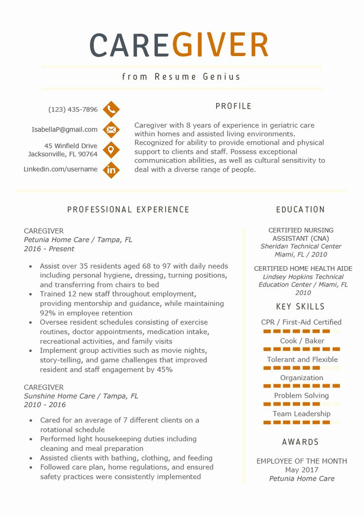 20 Home Health Aide Resume Description (With images