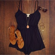 Love this romper, so simple and cute! #romper #simple #fashion
