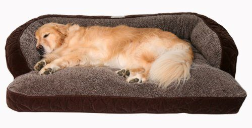 "Microfiber and Fleece Surround Bolster Dog Bed, Medium Size (for Large Dogs), 40"" x 29"", Chocolate Floppy Ears Design, LLC http://www.amazon.com/dp/B00G5LUXGO/ref=cm_sw_r_pi_dp_m7iUtb0XQS1QD0R4"