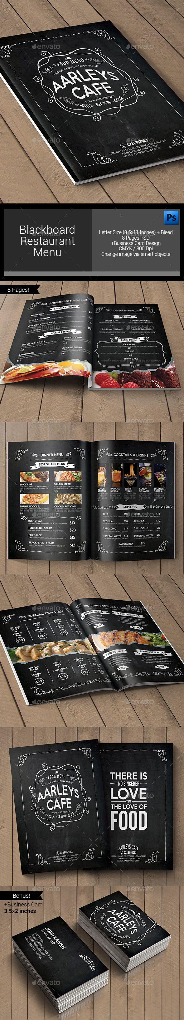 Blackboard Restaurant Menu Template #design Download: http://graphicriver.net/item/blackboard-restaurant-menu/11852511?ref=ksioks