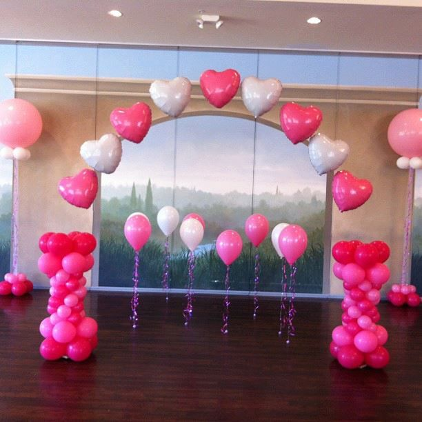 2389 best images about balloons without helium globos for Arch balloon decoration