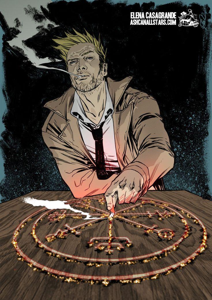"""John Constantine by Elena Casagrande for """"Hellblazer"""" Week at AshcanAllstars.com"""