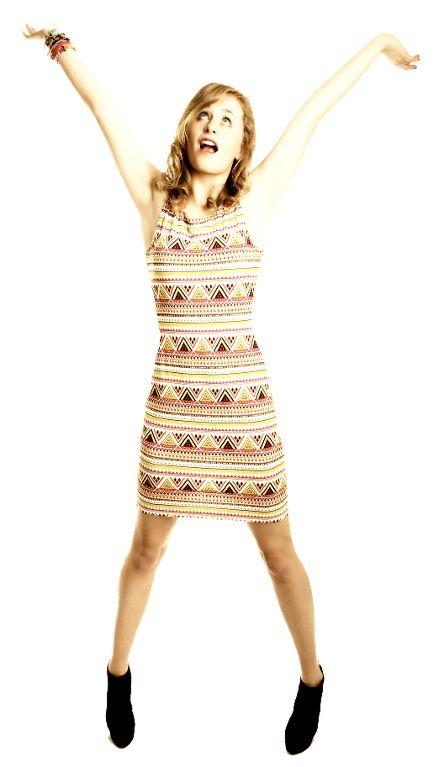 Enges Sommerkleid, Jerseykleid, kleid nähen, Sun Dress by designer FrocksandFrolics.