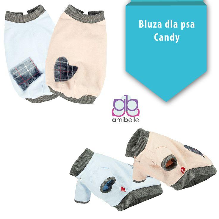Idealna na wieczorne, wakacyjne spacery po promenadzie bluza dla pieska z kolekcji Candy. Uszyta z najwyższej jakości materiałów i dostępna w trzech rozmiarach!  https://www.amibelle.pl/bluza-dla-psa-candy-amibelle-p-183.html