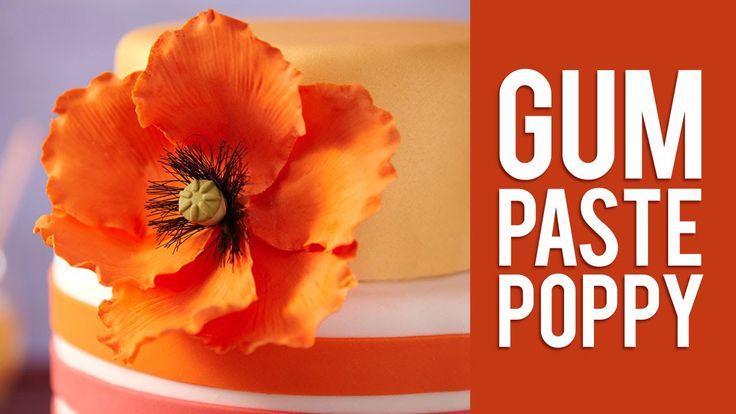 How to Make Gum Paste Poppy Flowers