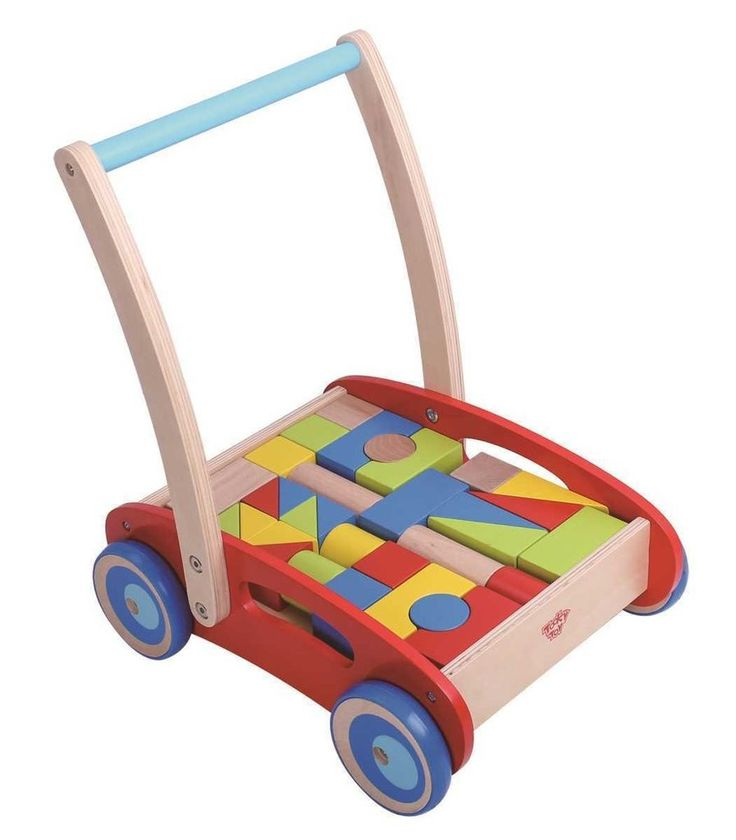 Tooky Toy - Wooden Baby Walker with Blocks 2 #EntropyWishList #PinToWin This would be great for Hannah, won't be long and she'll be walking!