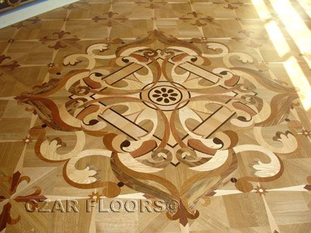 Custom Medallion Inlay (based On Border Corner), Check Pictures Of Other  Inlays, Wood And Stone Medallions, Borders And Parquet From Czar Floors.