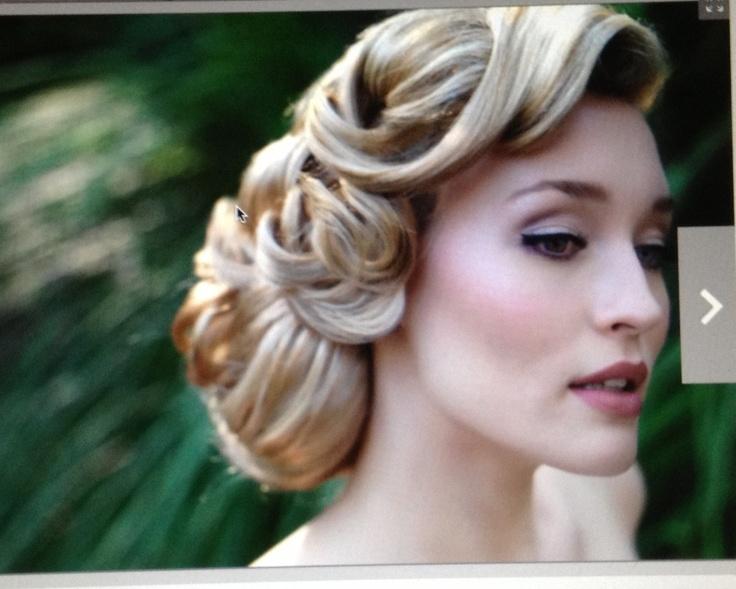 nice 50's hair style wedding