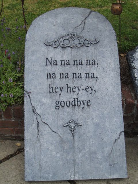 halloween tombstone i made at the davis graveyard tombstone class last year by mona - Funny Halloween Tombstones
