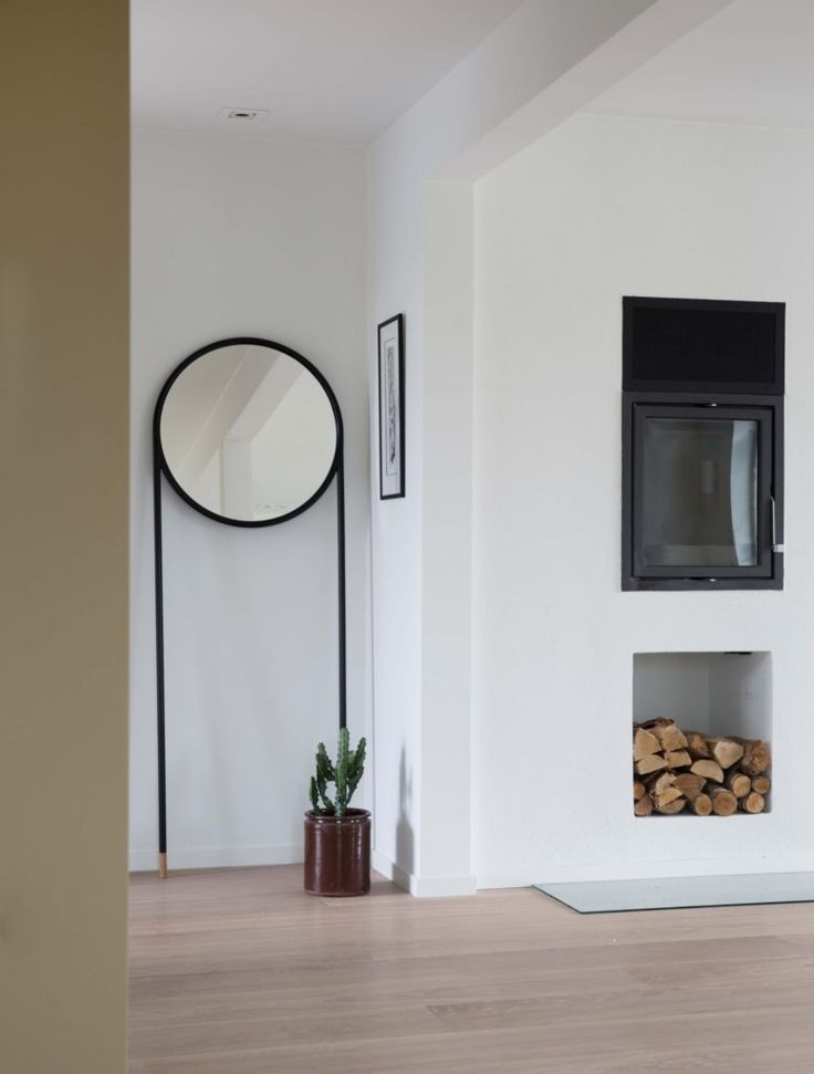 Nyfelt og Strand interiørarkitekter, enebolig nøtterøy, mot peis