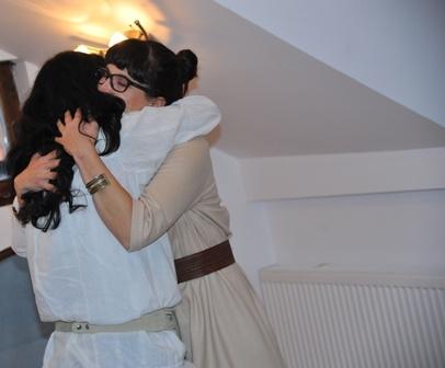 loving hug time & after sharing* brief time