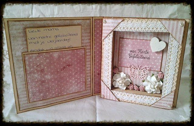 A Rose Creation: Book card voor mijn mams
